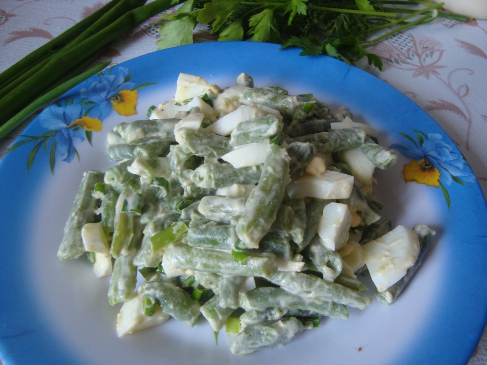 салат из фасоли с майонезом фото